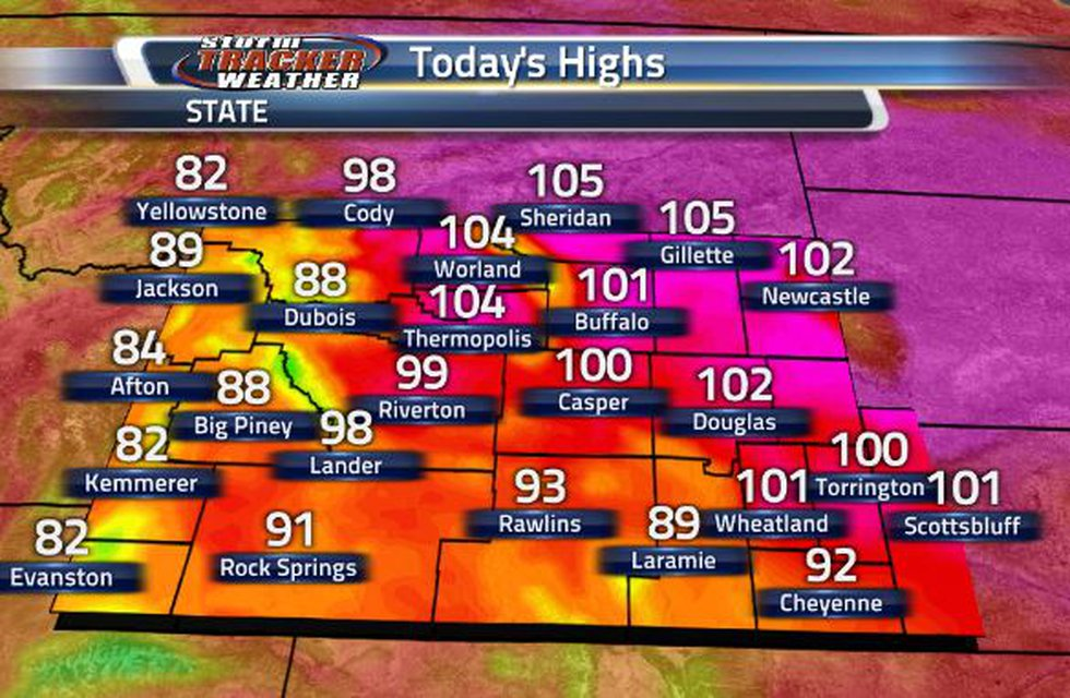 Temperatures are all over the place today. The western border is seeing temperatures in the...