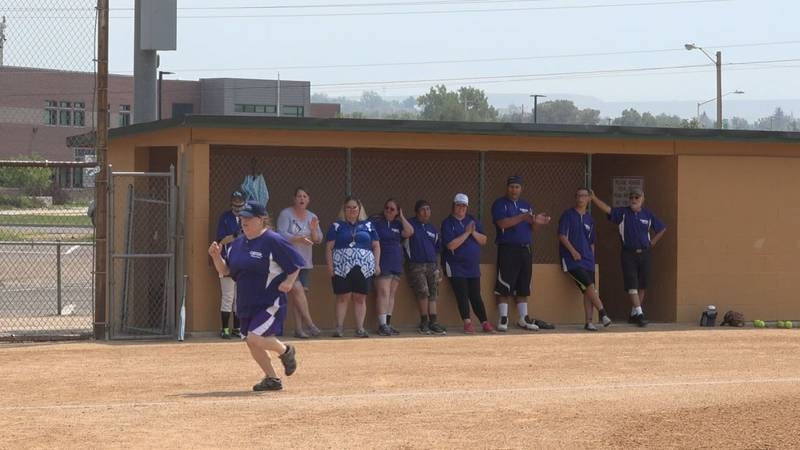 Riverton supports their teammate as they compete in the individual skills competition at the...