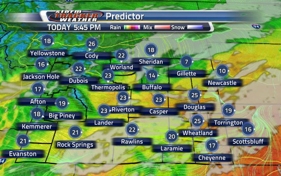 This evening, wind speeds will increase with the clouds moving in from the south.