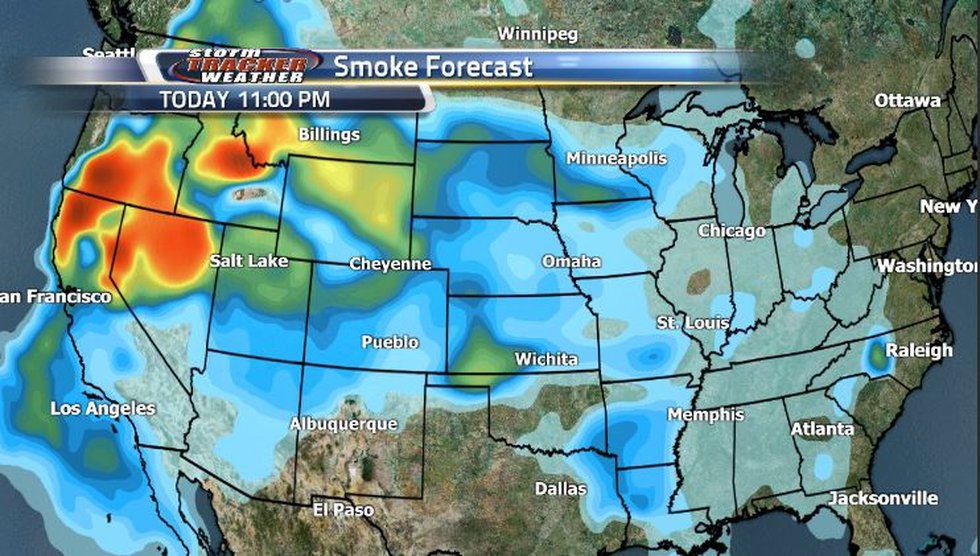 We're seeing lighter smoke now, but in the next couple of days we're going to see much heavier...