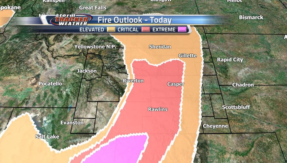 Strong, dry winds from the southwest along with summer heat have lead to a critical risk for...