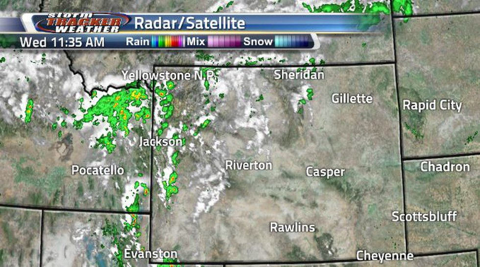 We are seeing clouds and showers in the northwestern corner of the state, which is allowing the...