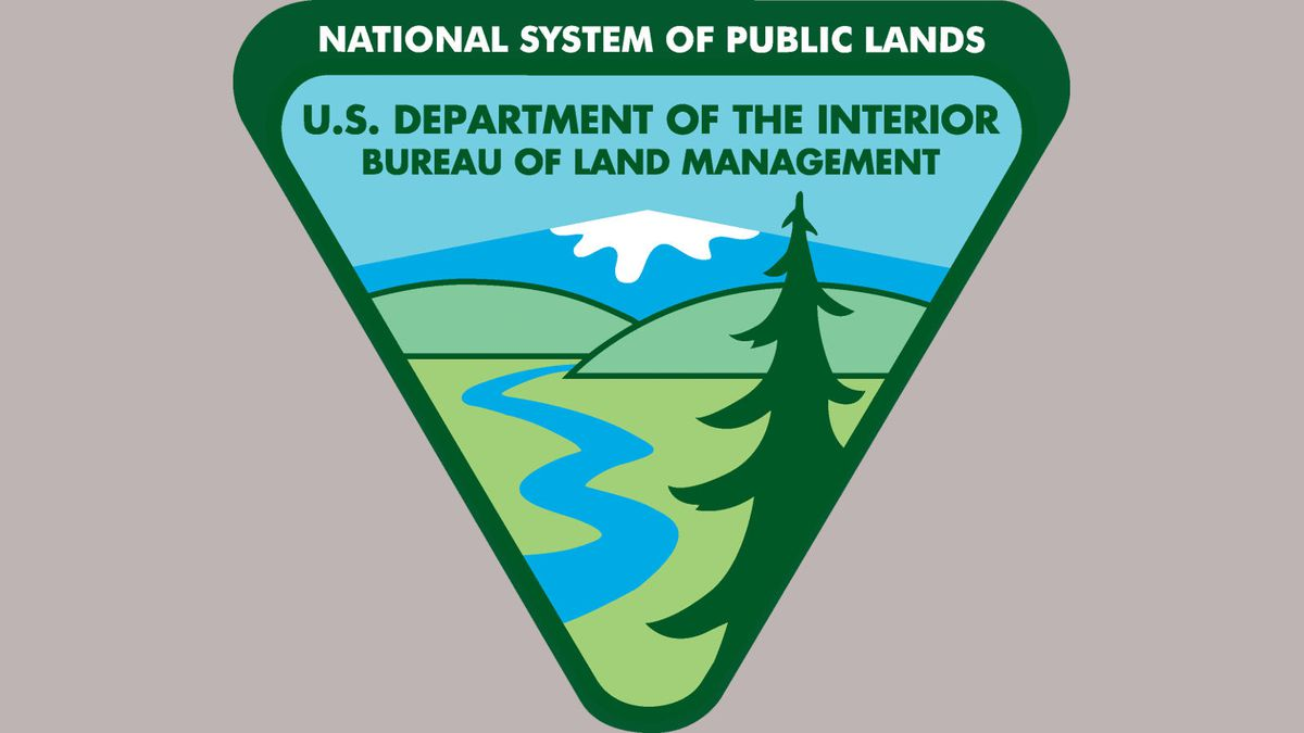 Bureau of Land Management (BLM) logo.