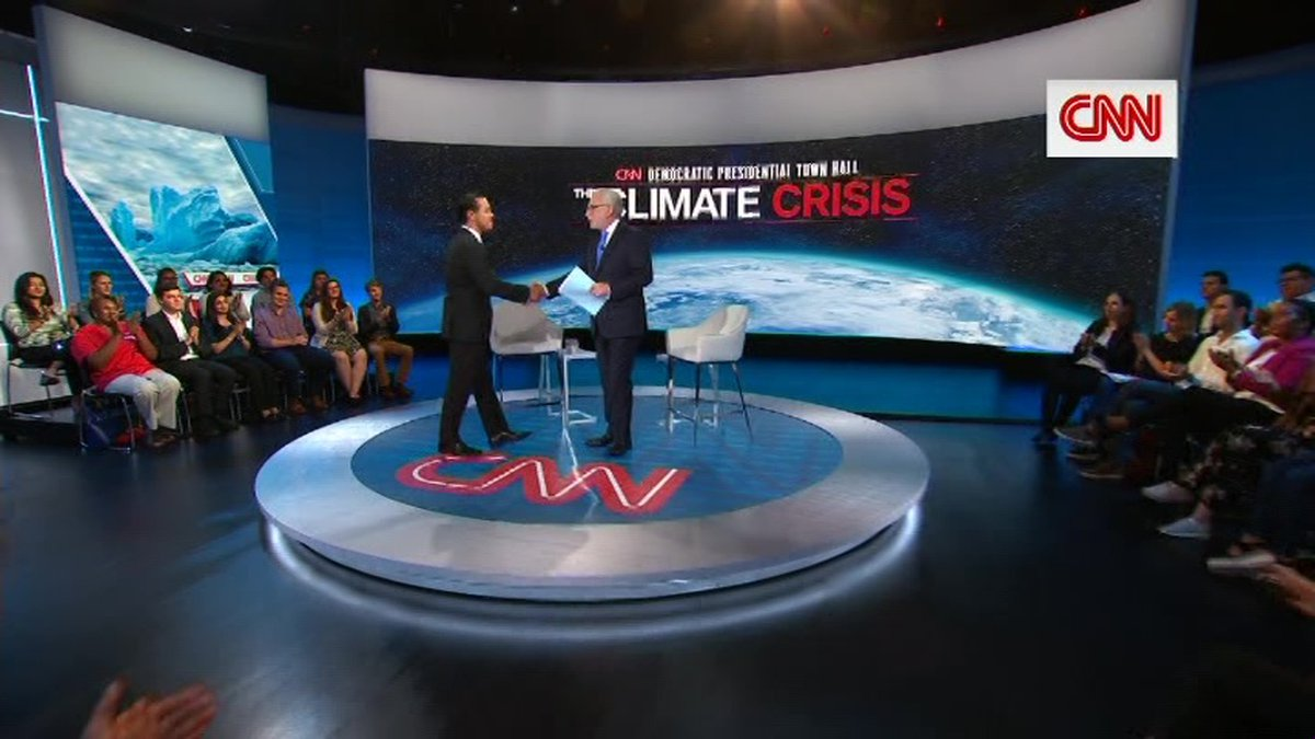 CNN hosted a series of town halls Wednesday with Democratic presidential candidates on climate...