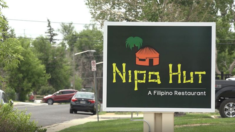Nipa Hut's restaurant sign on Central Ave. on June 18, 2021.