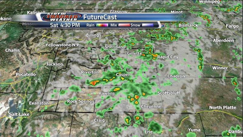 Scattered showers and storms are expected tomorrow, however, most of them will take place in...
