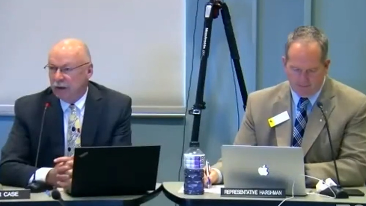 Chairs Carl Case and Steve Harshman of the Joint Revenue Committee Meeting- May 2021- Riverton WY