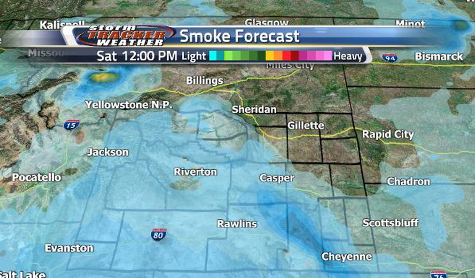 There will be a heavier pocket of smoke in Laramie Saturday afternoon.