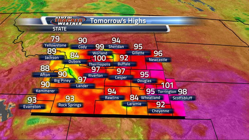 The hottest day of the week is upon us as we can expect upper 90s for much of the state with...