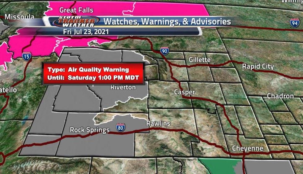 Air quality warnings are back and now covering much of the western portion of the state. The...