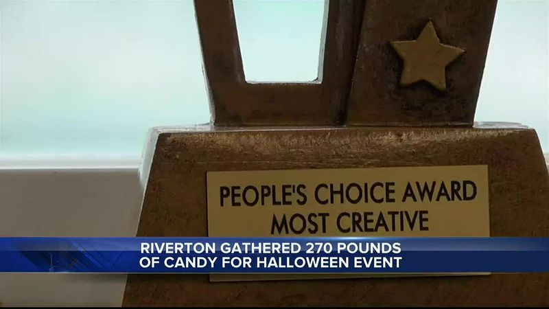 Teton Therapy in Riverton, WY won trophy for most creative candy drop box for the Chamber's...