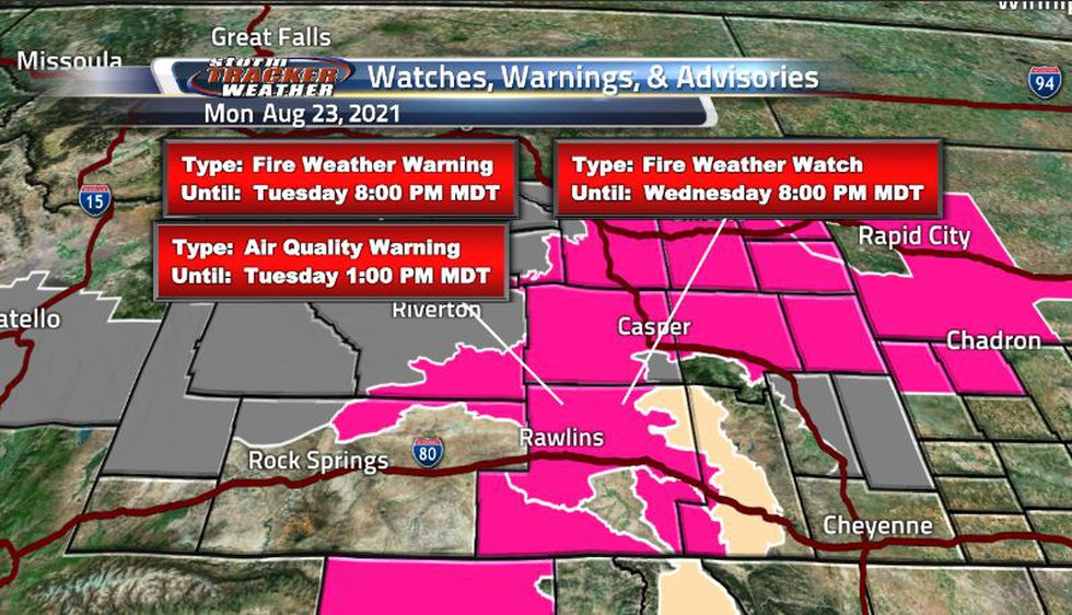 Hot and dry conditions lead us with lots of fire weather watches and warnings as well as air...