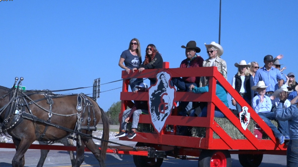 A wagon at CFD during the Cattle Drive