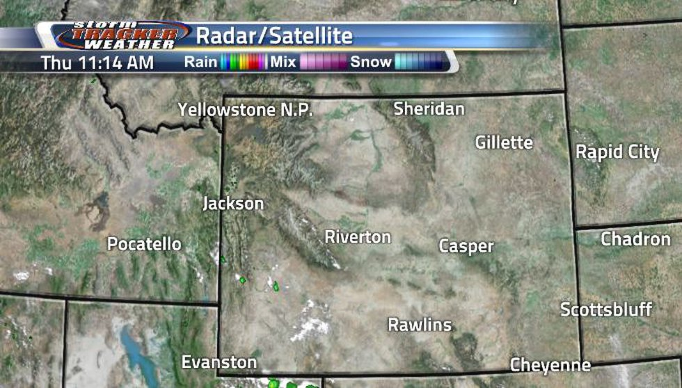 The radar and satellite has been mostly clear today. Clouds can be seen throughout the state...