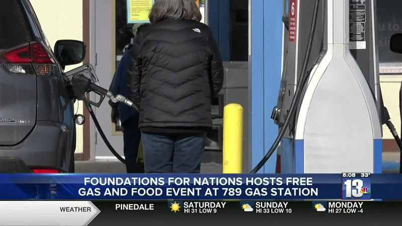 Foundations for Nations hosts gas and meal giveaway