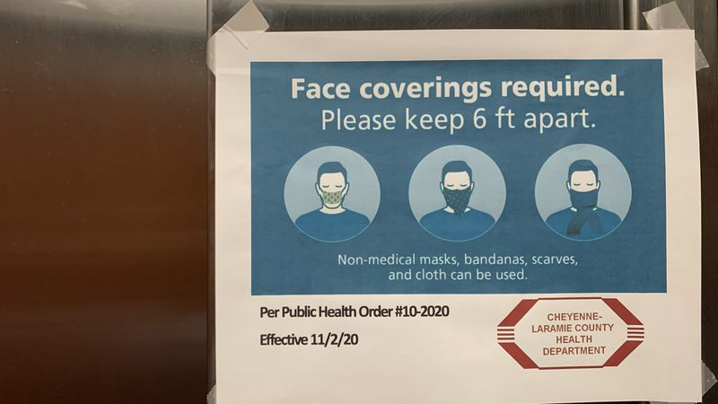 Laramie County mask mandate extended through beginning of January.