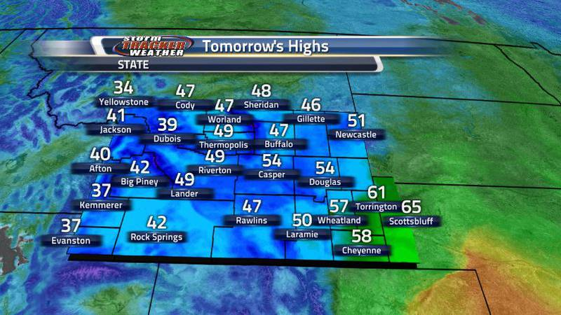 As the cold front moves through, temperatures will stay on the cooler side as lots of showers,...