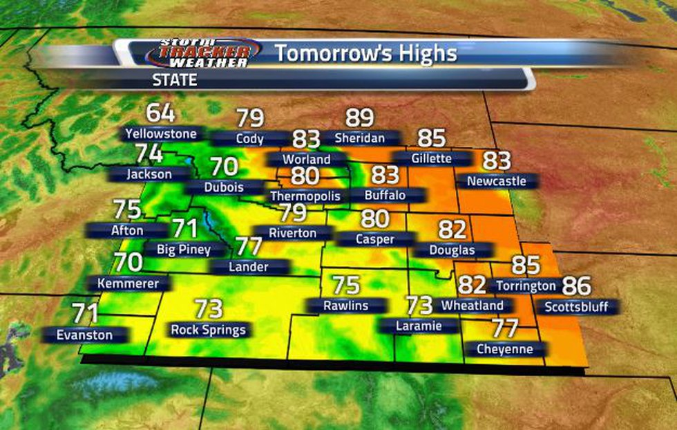 Tomorrow's temperatures will look a lot like today's