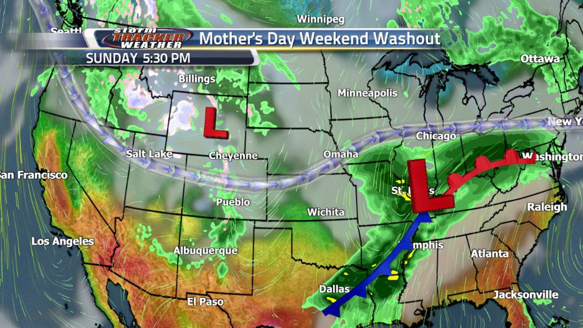 The sunshine to finish the first week of May is short lived as the jet stream takes a dip...