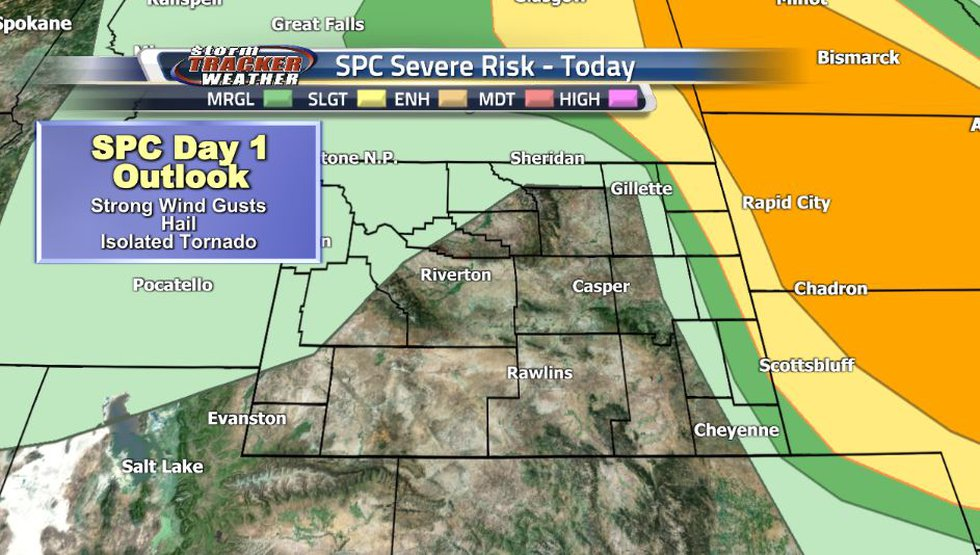A cold front moving through the region tonight could bring some severe storms to far Northeast...
