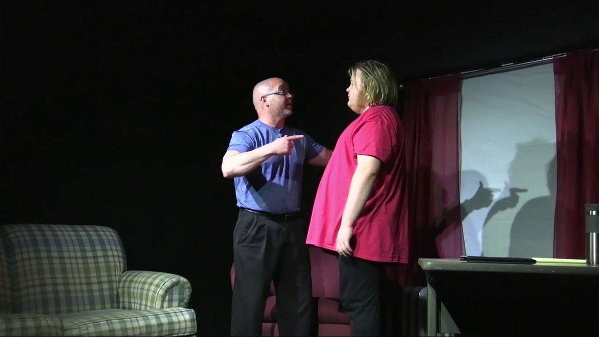 """A scene from the play """"Mind Games."""""""
