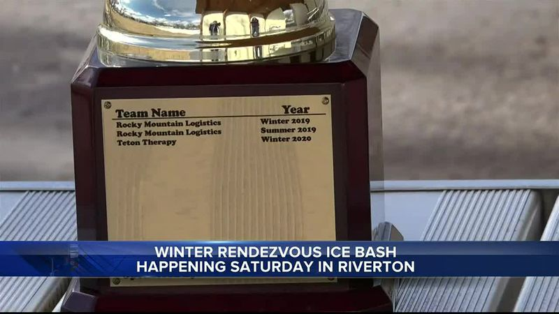 trophy for the Winter Rendezvous Games in Riverton, WY