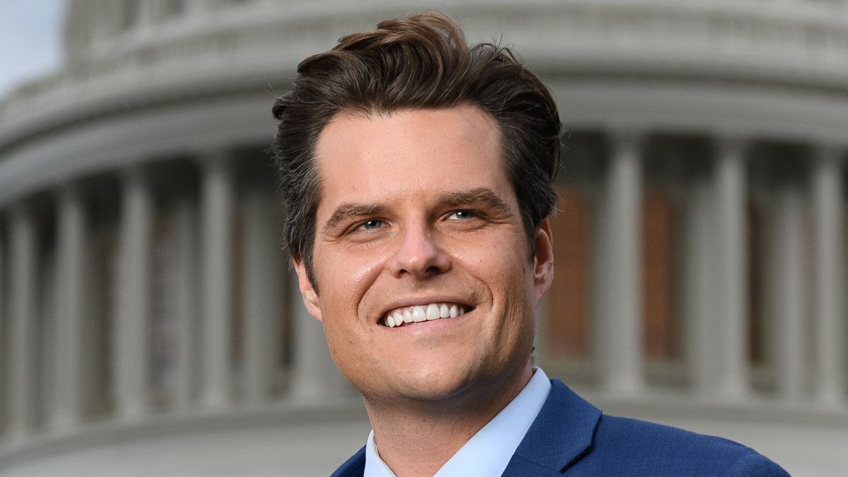 Florida Congressman Matt Gaetz's photo from his House of Representative's official website.