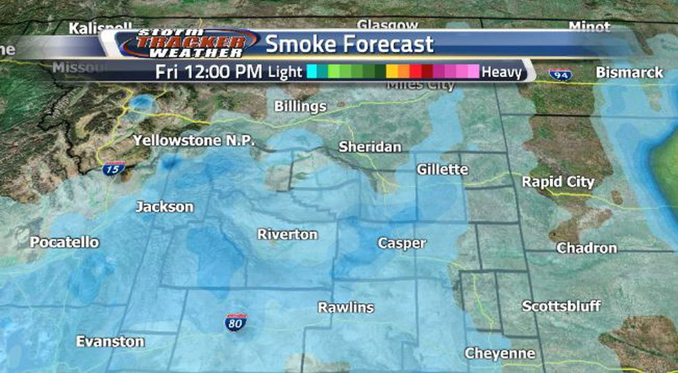 Friday afternoon, the smoke will push to the east and to the north.