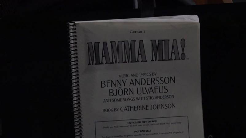 A song book for a guitarist for Mamma Mia