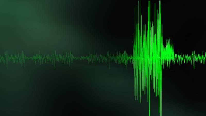 Earthquake graphic.