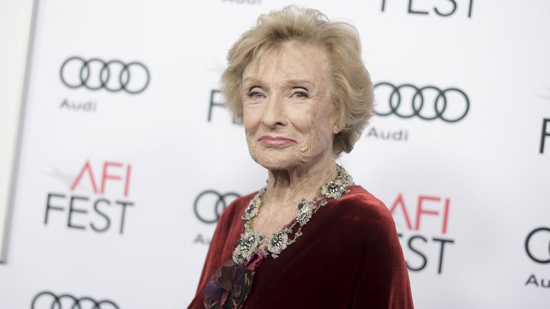 """FILe - In this Nov. 11, 2016 file photo, Cloris Leachman attends the premiere of """"The Comedian""""..."""