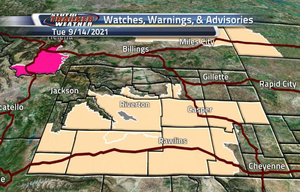There is a broad area of Fire Weather Watch across the state today.