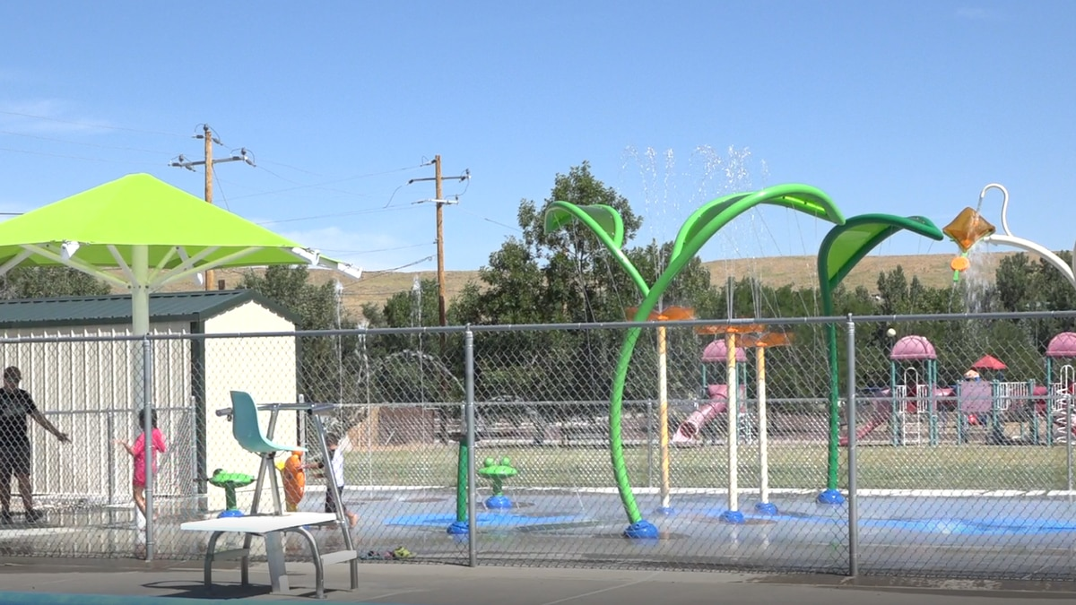 The Marion Kreiner splash pad and pool are open to the public