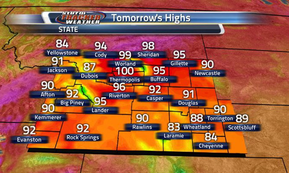 We will be seeing a heat up again tomorrow. High 80s and low 90s across the southern half of...