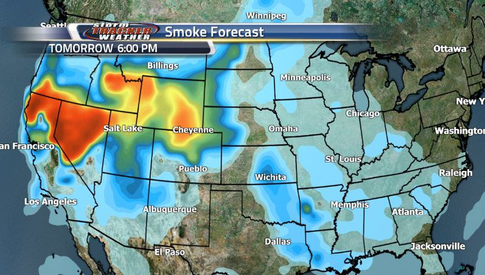 While the rain is keeping the smoke at bay for now, it will start to creep back in by tomorrow...