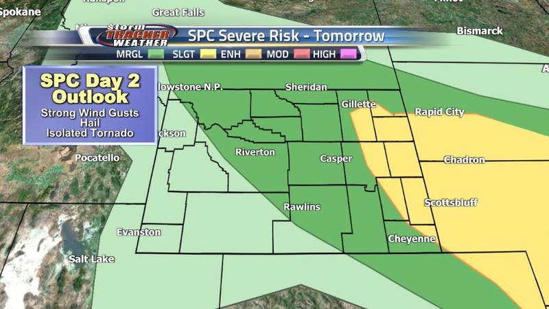 The SPC has issued a Slight Risk for severe weather Wednesday afternoon, including all of the...
