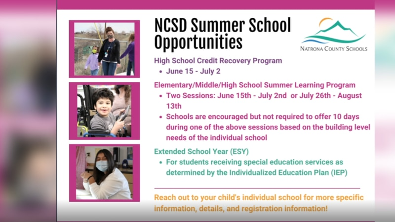 NCSD summer learning opportunities