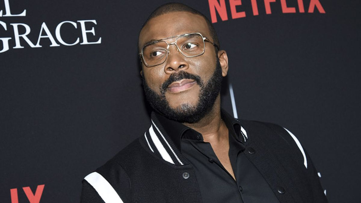 """Writer-director-actor Tyler Perry attends the premiere of Tyler Perry's """"A Fall from Grace"""" at Metrograph on Monday, Jan. 13, 2020, in New York. (Photo by Evan Agostini/Invision/AP)"""