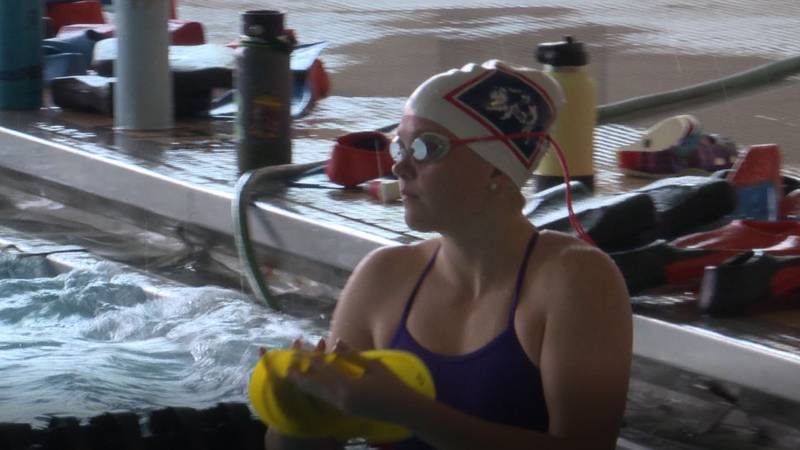 Kira Brownell at swimming practice on August 30, 2021.