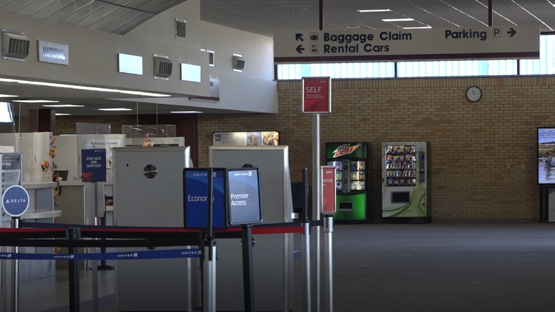 The check in area of the Casper International Airport