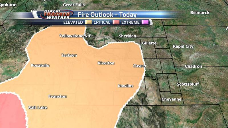 The dry conditions and heat persist in Central and Western Wyoming, prompting a continuing fire...