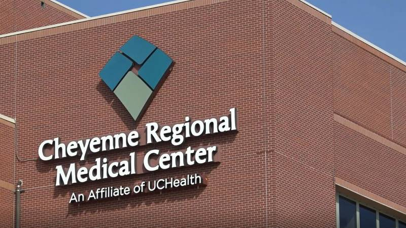 CRMC's logo on the outside of the hospital.