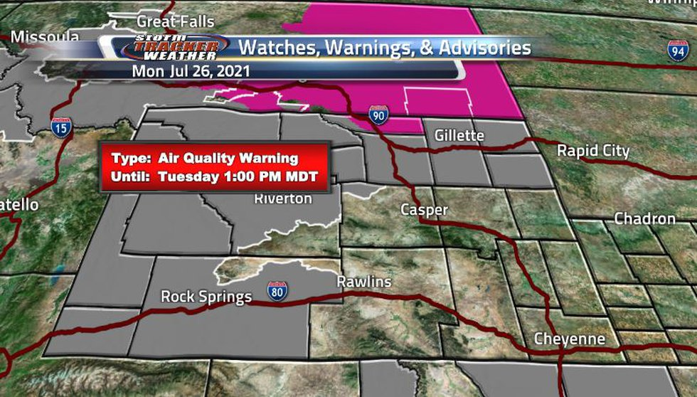 Air quality warnings have been extended and expanded to cover the entire northern portion of...