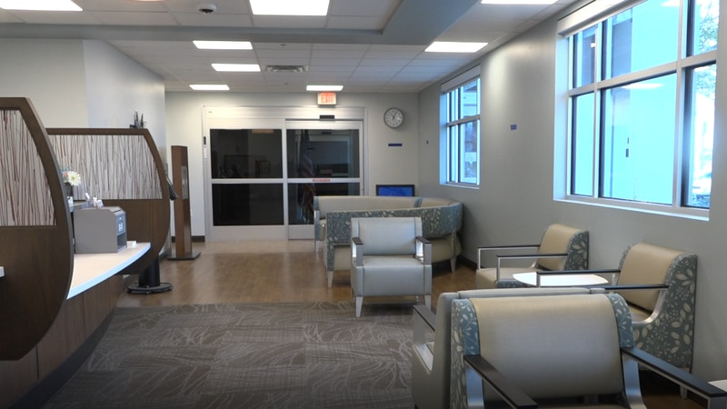 One of the waiting rooms at the new Casper VA clinic