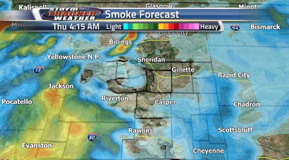 The state will see a much needed reduction of smoke conditions on Thursday.