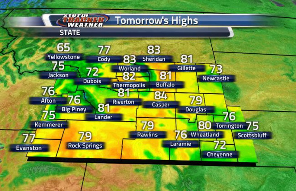 Tomorrow will be slightly cooler compared to today.