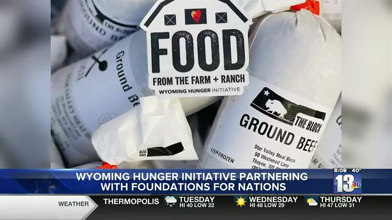 Beef donated through the Wyoming Hunger Initiative to Fremont County