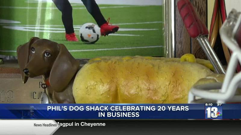 Weiner Dog decoration in Phil's Dog Shak in Riverton, WY