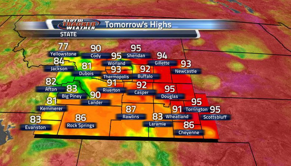 The heat is back on again tomorrow as we continue this warming trend. However, this is where we...