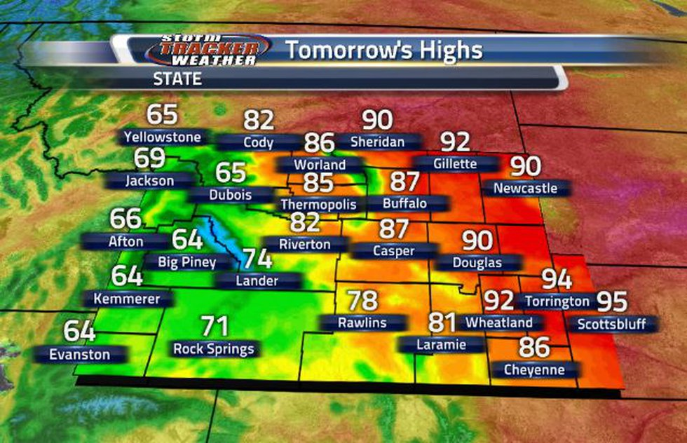 This weekend, temperatures are going to be heating back up.